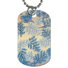 Fabric Embroidery Blue Texture Dog Tag (one Side)