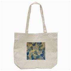 Fabric Embroidery Blue Texture Tote Bag (cream)