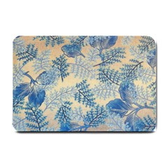 Fabric Embroidery Blue Texture Small Doormat