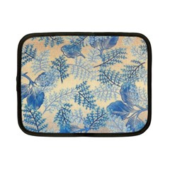 Fabric Embroidery Blue Texture Netbook Case (small)