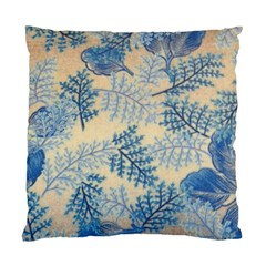 Fabric Embroidery Blue Texture Standard Cushion Case (two Sides)