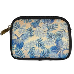 Fabric Embroidery Blue Texture Digital Camera Cases