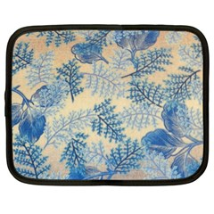 Fabric Embroidery Blue Texture Netbook Case (xl)