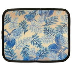Fabric Embroidery Blue Texture Netbook Case (xxl)
