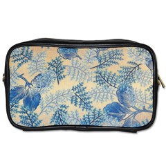 Fabric Embroidery Blue Texture Toiletries Bags
