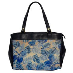 Fabric Embroidery Blue Texture Office Handbags