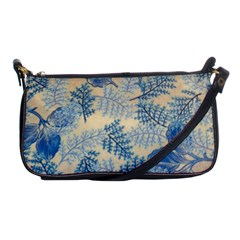 Fabric Embroidery Blue Texture Shoulder Clutch Bags