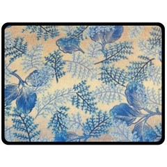 Fabric Embroidery Blue Texture Fleece Blanket (large)