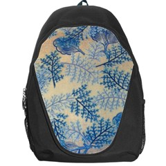 Fabric Embroidery Blue Texture Backpack Bag