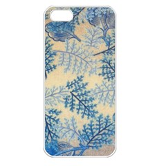 Fabric Embroidery Blue Texture Apple Iphone 5 Seamless Case (white)