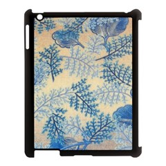 Fabric Embroidery Blue Texture Apple Ipad 3/4 Case (black)