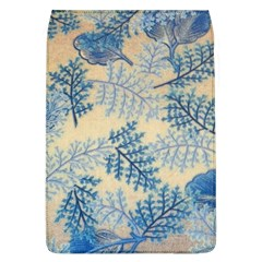 Fabric Embroidery Blue Texture Flap Covers (l)