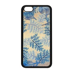Fabric Embroidery Blue Texture Apple Iphone 5c Seamless Case (black)