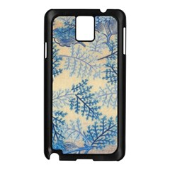 Fabric Embroidery Blue Texture Samsung Galaxy Note 3 N9005 Case (black)