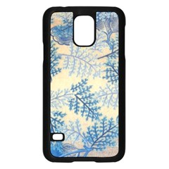 Fabric Embroidery Blue Texture Samsung Galaxy S5 Case (black)