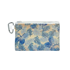Fabric Embroidery Blue Texture Canvas Cosmetic Bag (s)