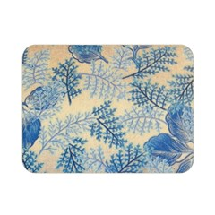 Fabric Embroidery Blue Texture Double Sided Flano Blanket (mini)