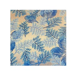 Fabric Embroidery Blue Texture Small Satin Scarf (square)