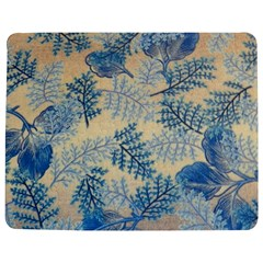 Fabric Embroidery Blue Texture Jigsaw Puzzle Photo Stand (rectangular)