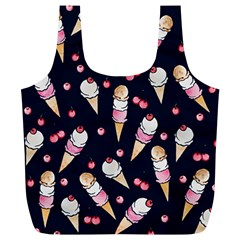 Ice Cream Lover Full Print Recycle Bags (l)