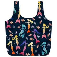 Mermaids Full Print Recycle Bags (l)