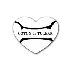 Coton De Tulear Dog Bone Heart Coaster (4 Pack)
