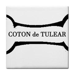 Coton De Tulear Dog Bone Face Towel