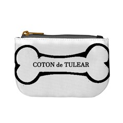 Coton De Tulear Dog Bone Mini Coin Purses