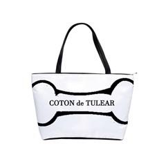 Coton De Tulear Dog Bone Shoulder Handbags