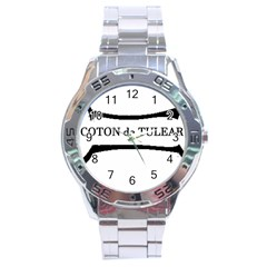 Coton De Tulear Dog Bone Stainless Steel Analogue Watch