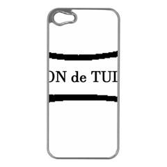 Coton De Tulear Dog Bone Apple Iphone 5 Case (silver)