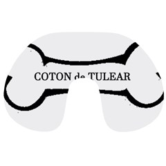 Coton De Tulear Dog Bone Travel Neck Pillows