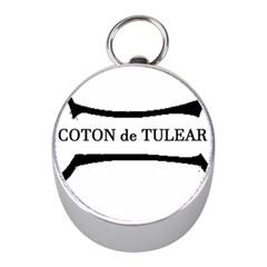 Coton De Tulear Dog Bone Mini Silver Compasses