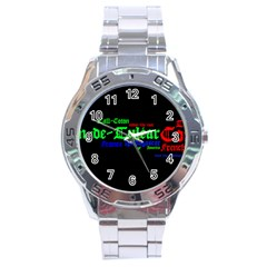Coton De Tulear Mashup Stainless Steel Analogue Watch