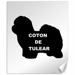 Coton De Tulear Name Silo Canvas 8  X 10