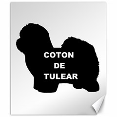 Coton De Tulear Name Silo Canvas 20  X 24