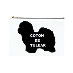 Coton De Tulear Name Silo Cosmetic Bag (large)
