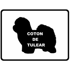 Coton De Tulear Name Silo Fleece Blanket (large)
