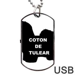 Coton De Tulear Name Silo Dog Tag Usb Flash (one Side)
