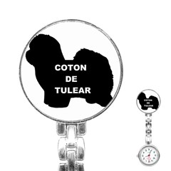 Coton De Tulear Name Silo Stainless Steel Nurses Watch