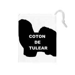Coton De Tulear Name Silo Drawstring Pouches (medium)