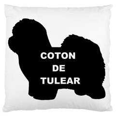 Coton De Tulear Name Silo Large Flano Cushion Case (one Side)