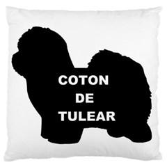 Coton De Tulear Name Silo Large Flano Cushion Case (two Sides)