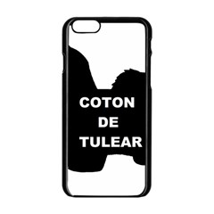 Coton De Tulear Name Silo Apple Iphone 6/6s Black Enamel Case