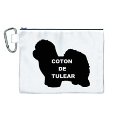 Coton De Tulear Name Silo Canvas Cosmetic Bag (l)