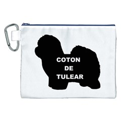 Coton De Tulear Name Silo Canvas Cosmetic Bag (xxl)