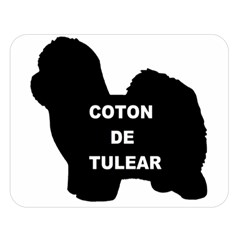 Coton De Tulear Name Silo Double Sided Flano Blanket (large)