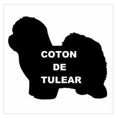 Coton De Tulear Name Silo Large Satin Scarf (square)