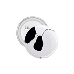 Coton De Tulear Silhouette Color Bw 1 75  Buttons