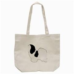 Coton De Tulear Silhouette Color Bw Tote Bag (cream)